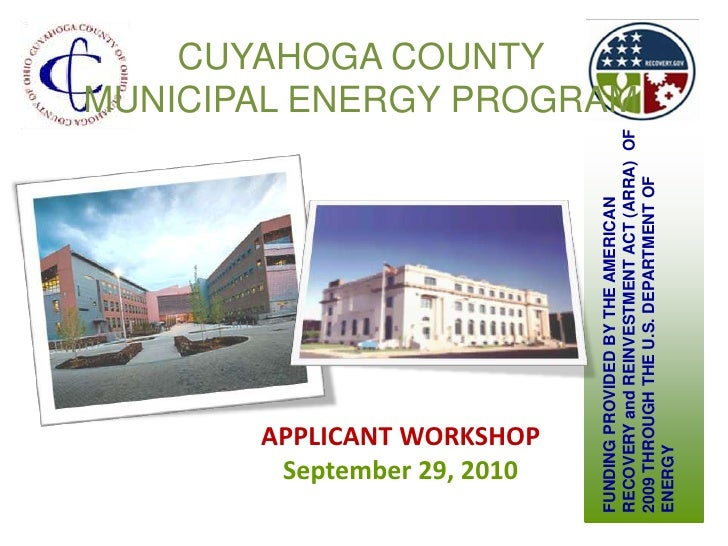 Municipal Energy Program Applicant Workshop