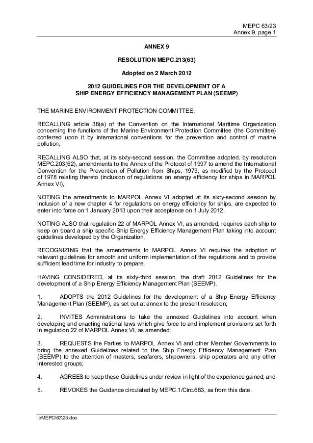 MEPC 63/23                                                                           Annex 9, page 1                      ...