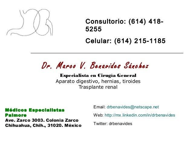 Dr. Marco V. Benavides Sánchez