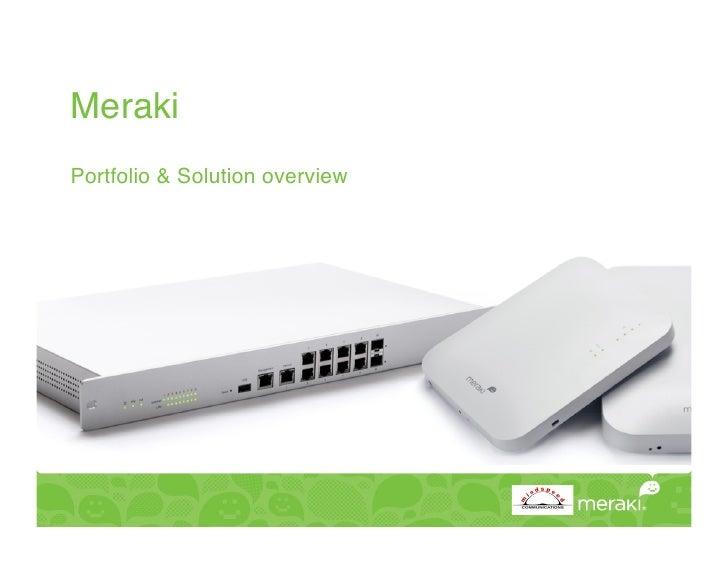 "Meraki Portfolio & Solution overview"""