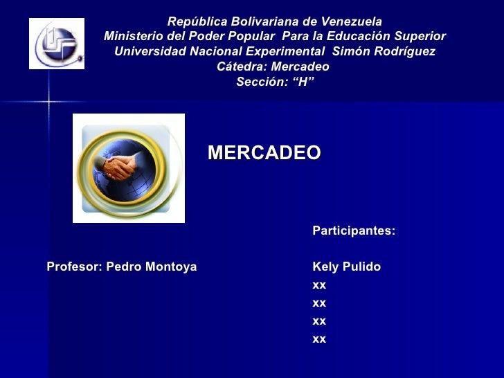 Mercadeo UNESR 2009