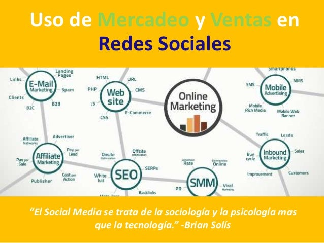Mercadeo y ventas en redes sociales