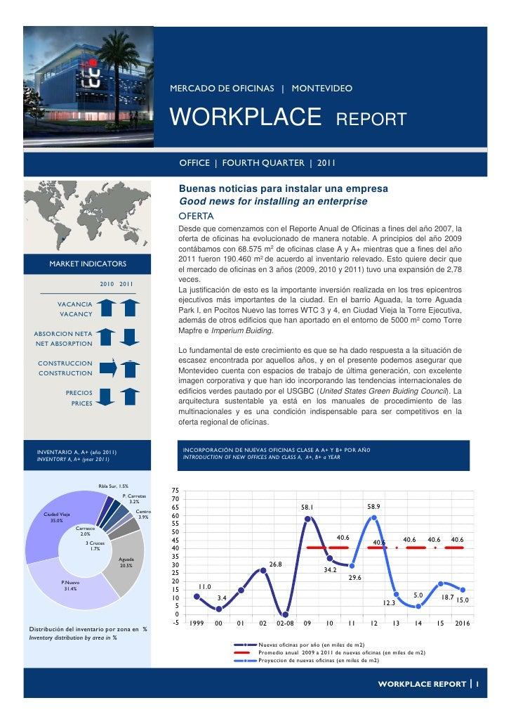 MERCADO DE OFICINAS | MONTEVIDEO                                                          WORKPLACE                       ...