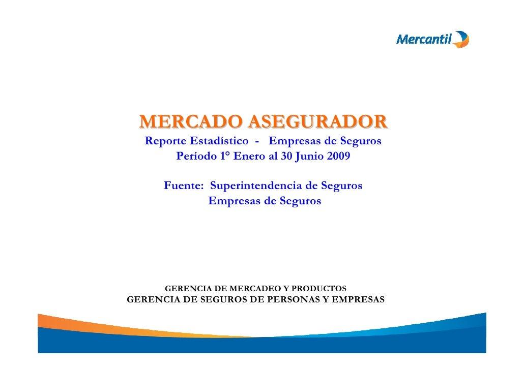 MERCADO ASEGURADOR                           Reporte Estadístico - Empresas de Seguros                                Perí...