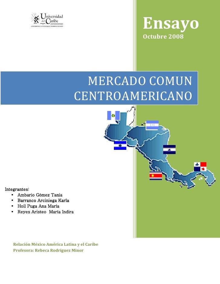 Mercado común centroamerciano