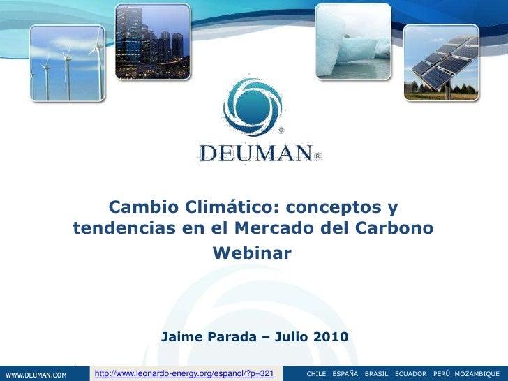 Mercado internacional del carbono