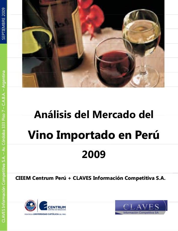 Mercado Del Vino Importado En Peru 2009