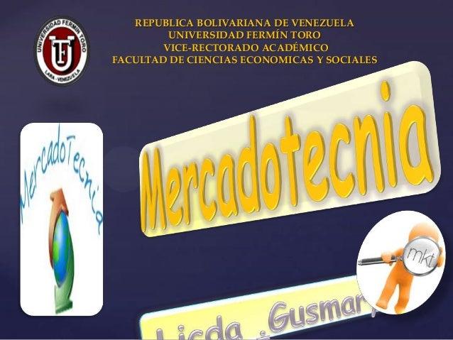 {REPUBLICA BOLIVARIANA DE VENEZUELAUNIVERSIDAD FERMÍN TOROVICE-RECTORADO ACADÉMICOFACULTAD DE CIENCIAS ECONOMICAS Y SOCIALES