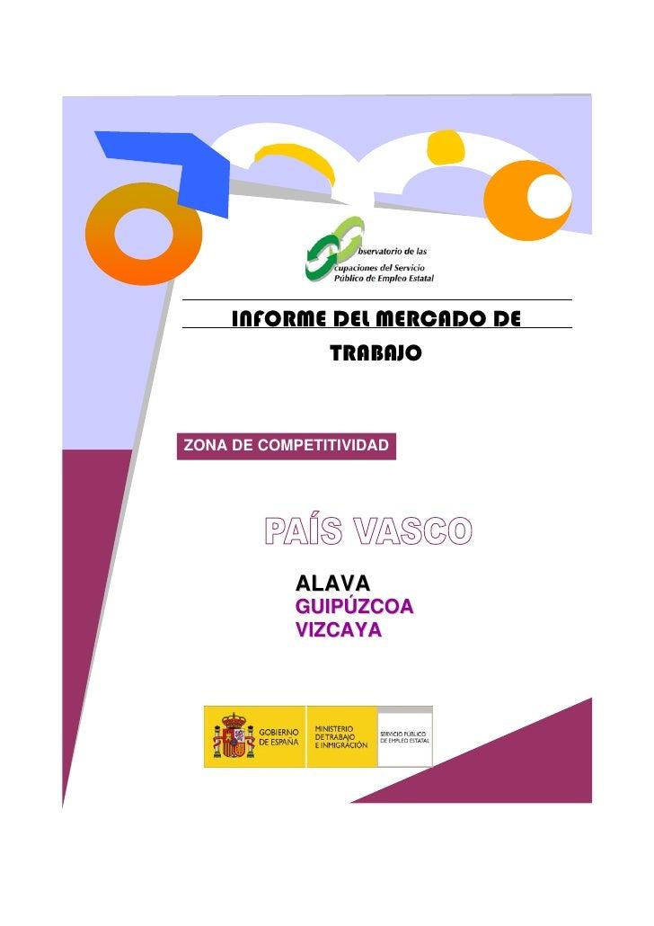 INFORME DEL MERCADO DE              TRABAJO   ZONA DE COMPETITIVIDAD                ALAVA            GUIPÚZCOA            ...