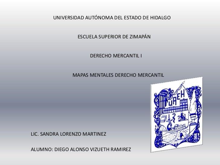 UNIVERSIDAD AUTÓNOMA DEL ESTADO DE HIDALGO                 ESCUELA SUPERIOR DE ZIMAPÁN                     DERECHO MERCANT...
