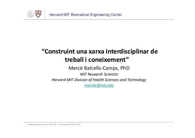 Construint una xarxa interdisciplinar de treball i coneixement