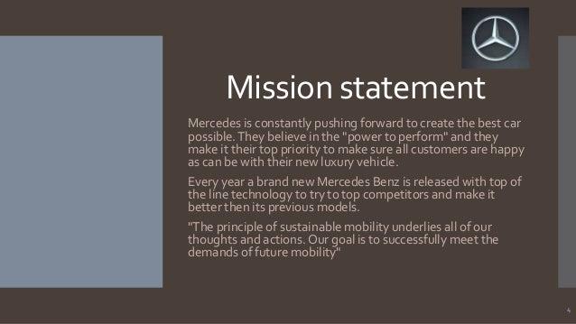 Attractive Mercedes Benz Mission Statement