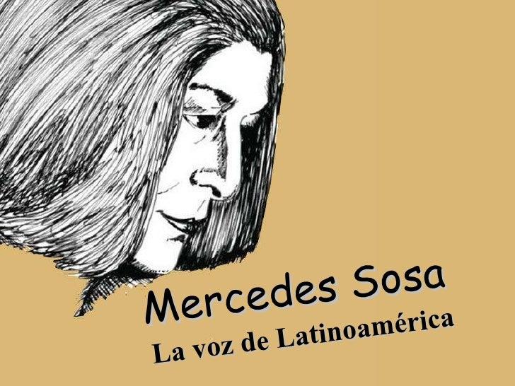 Mercedes Sosa La voz de Latinoamérica