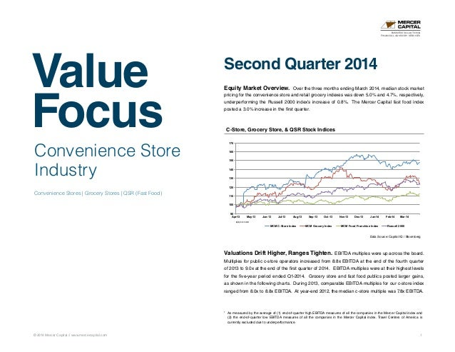 Value Focus © 2014 Mercer Capital // www.mercercapital.com 1 Convenience Store Industry Convenience Stores | Grocery Store...