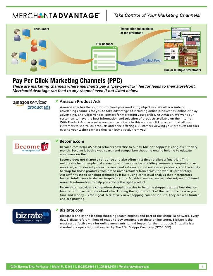 Consumers                                              Transaction takes place Pay Per Click Marketing Channels (PPC) - Co...