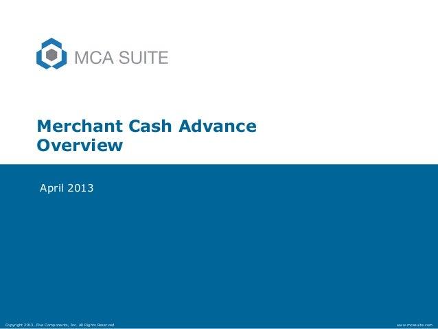 Merchant cash advance overview