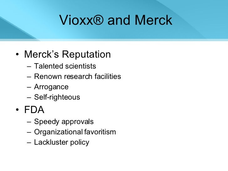 merck and vioxx On the same day, merck voluntarily withdrew vioxx from the market2 2 merck, merck announces voluntary worldwide withdrawal of vioxx (sept 30, 2004.