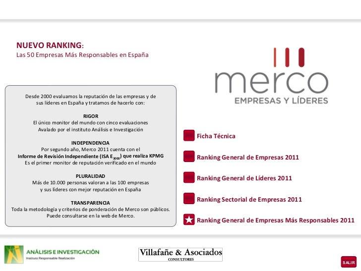 Nuevo Ranking Merco 2011