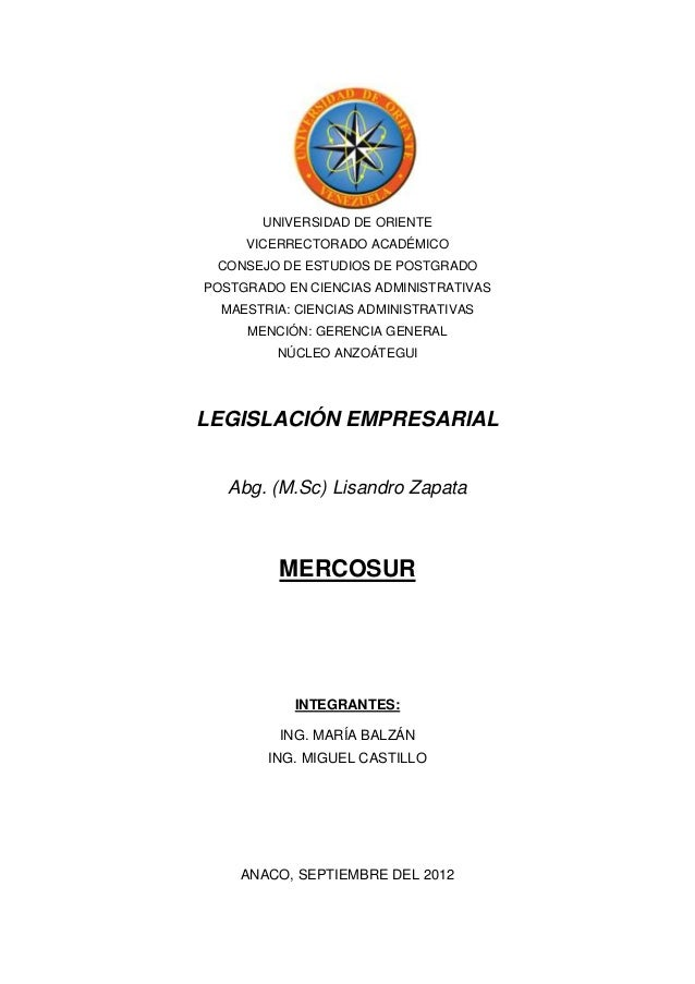 UNIVERSIDAD DE ORIENTE     VICERRECTORADO ACADÉMICO CONSEJO DE ESTUDIOS DE POSTGRADOPOSTGRADO EN CIENCIAS ADMINISTRATIVAS ...