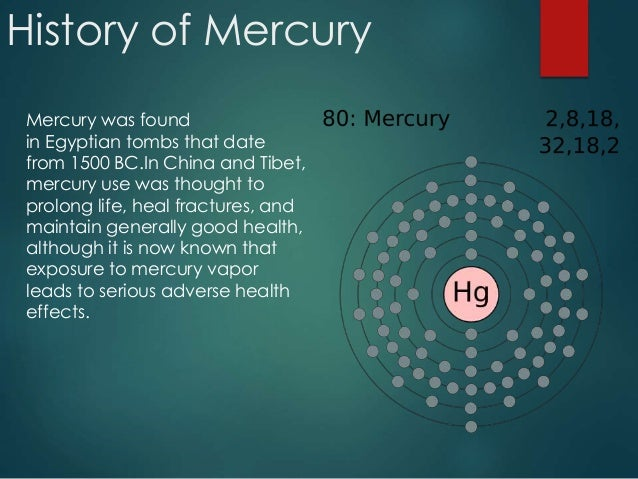 presentation on the chemical element mercury Element gold (au), group 11  move to mercury   next time on chemistry in its element victoria gill introduces the chemical that founded the science of.
