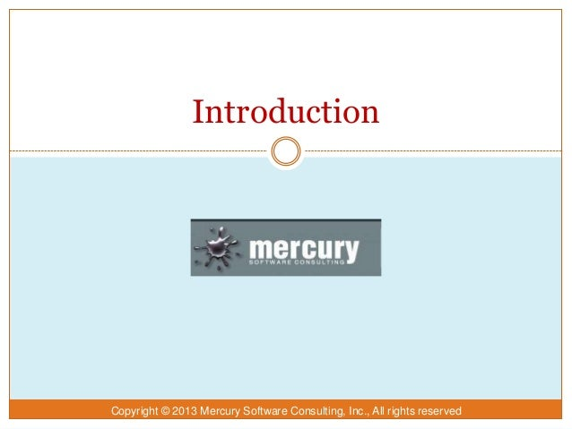 Mercury Introduction