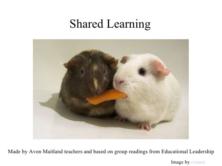 Shared Learning Made by Avon Maitland teachers and based on group readings from Educational Leadership Image by  ryancr