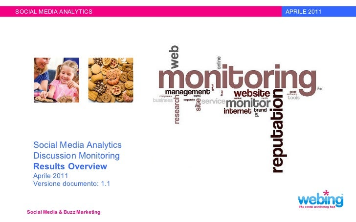 + Social Media & Buzz Marketing + Mobile+iPhone Solutions APRILE 2011 SOCIAL MEDIA ANALYTICS Social Media Analytics Discus...