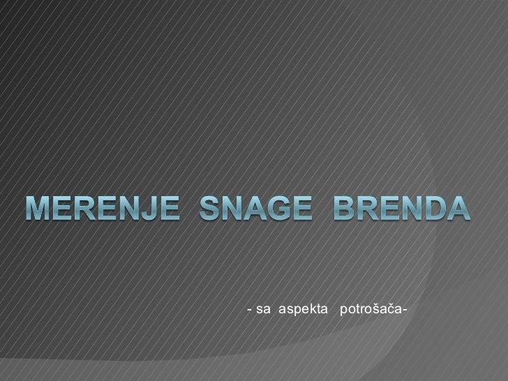 Merenje  Snage  Brenda