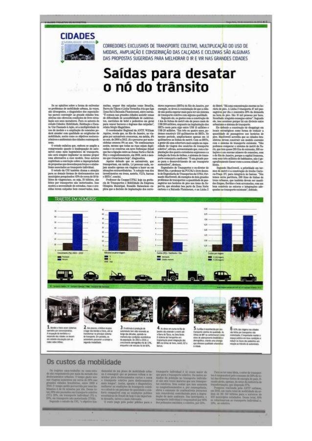 Caderno Especial O Globo | CNI Debates | Mobilidade Urbana