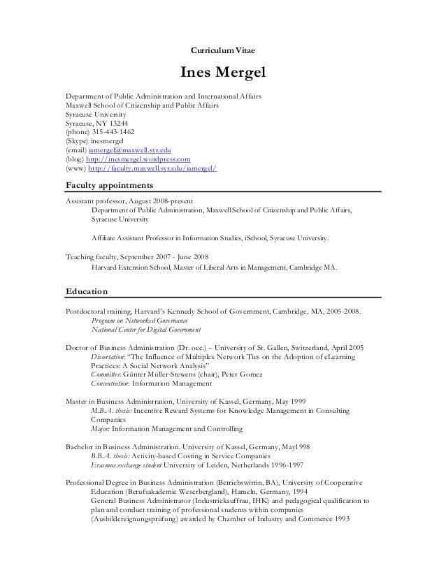 Ines Mergel CV December 2012