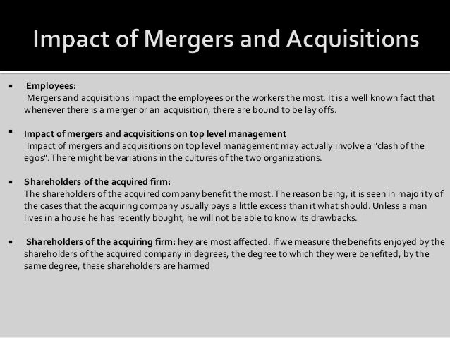 benefits of mergers and acquisitions Synergies refer to expected cost savings, growth opportunities, and other financial benefits that occur as a result of the combination of two companies.