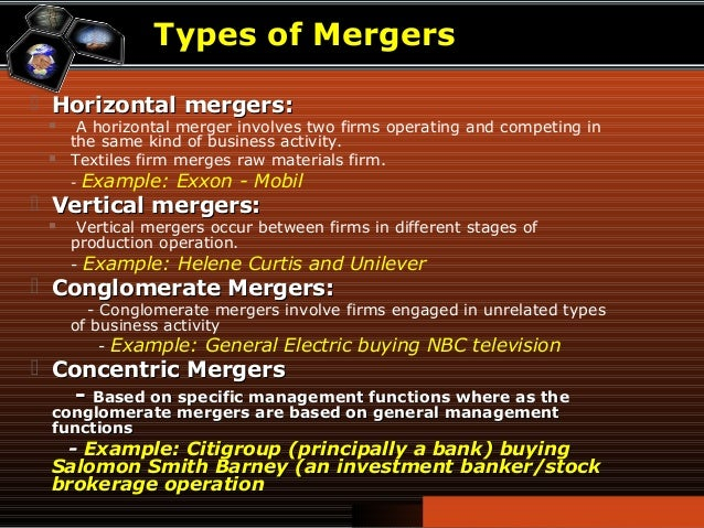 Examples of mergers