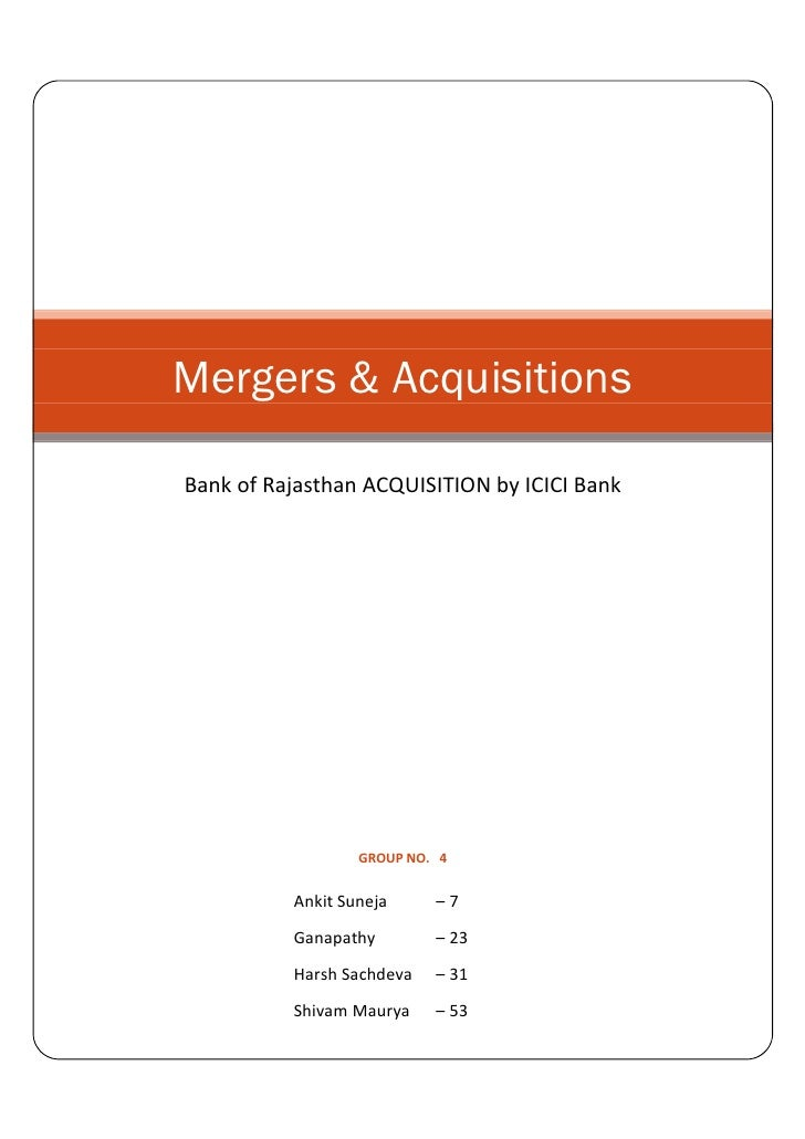 Mergers&Acquisition Report