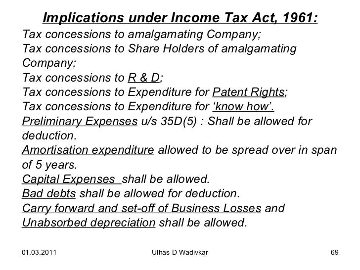 tax implications of amalgamation mergers and Basic tax issues in acquisition transactions michael l schler 1 table of contents i  a merger, can have vast consequences from a tax point of view the.