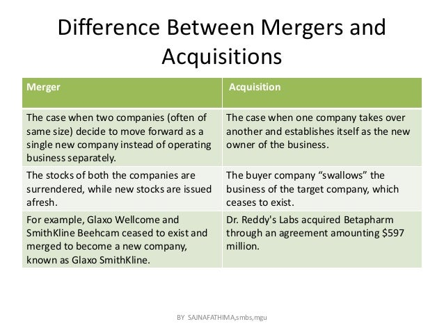 merger and acquisition case study