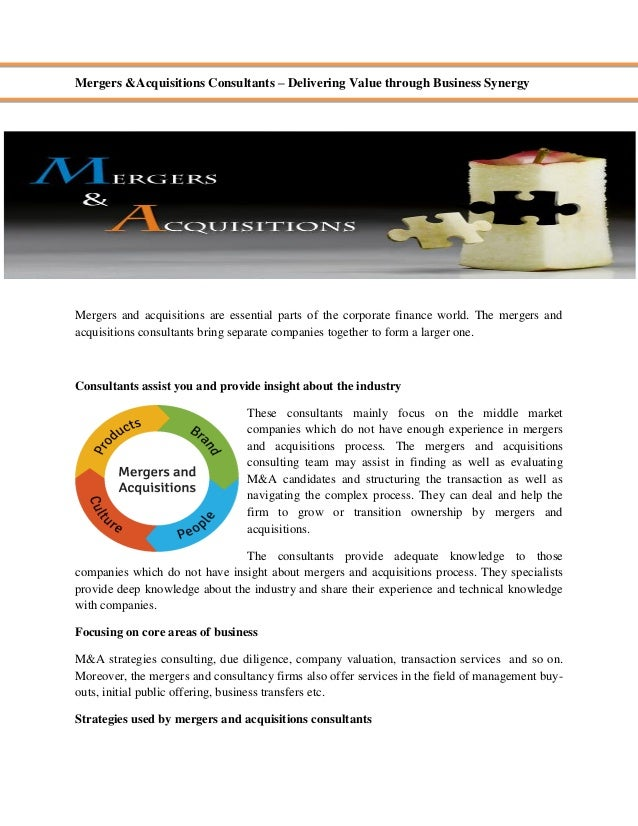 Net Present Value, Mergers, and Acquisitions Custom Essay