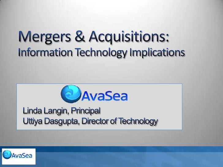 Mergers & Acquisitions   It Implications