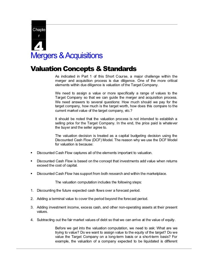 Mergers & acquisitions valuation