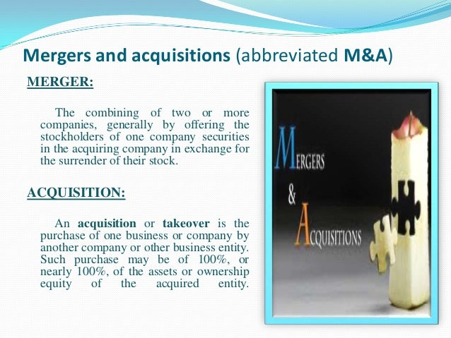merger and acquisition analysis