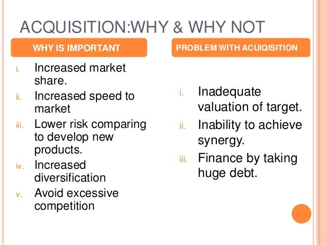 benefits of mergers and acquisitions between The first and foremost advantage of mergers and acquisitions is that companies which have excess cash and not enough profitable opportunities in their is unique and different from others which make calculation of right price a tricky one and chances of company overpricing the merger and acquisition.