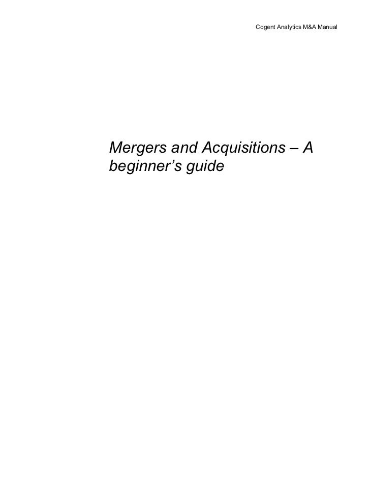 Mergers and acquisitions – a beginner's guide@ bec doms