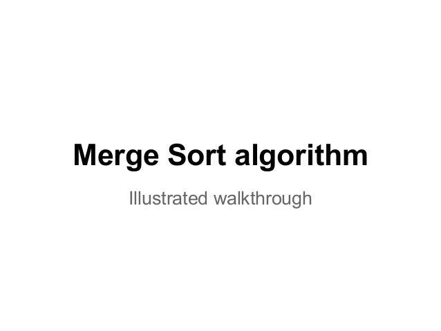 Merge Sort algorithm Illustrated walkthrough