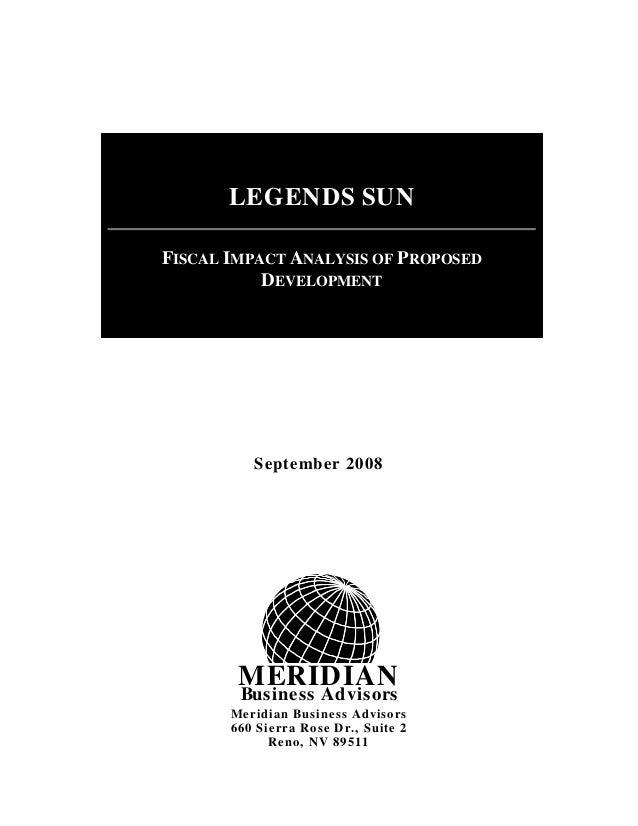 MERIDIAN Business Advisors September 2008 Meridian Business Advisors 660 Sierra Rose Dr., Suite 2 Reno, NV 89511 LEGENDS S...