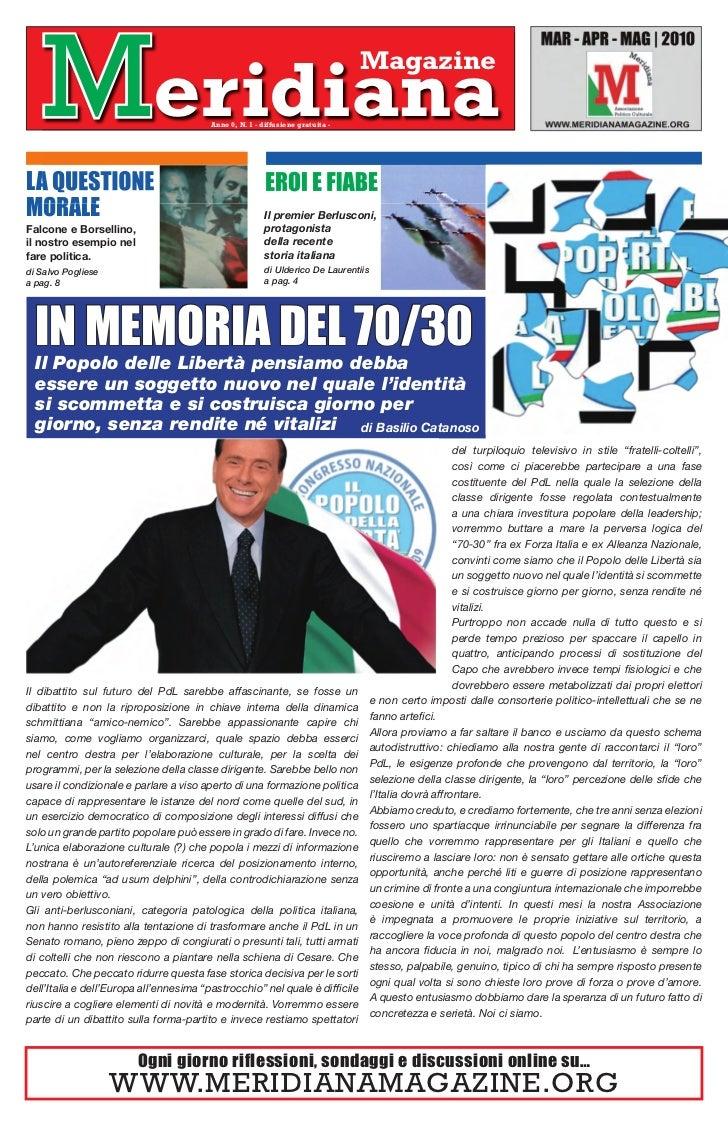 Meridiana                            Anno 0, N. 1 - diffusione gratuita -                                                 ...