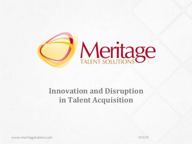Meritage Talent Solutions Vendor Services