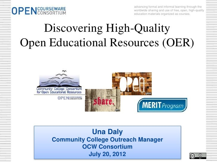 Merit: Discovering High-Quality OER