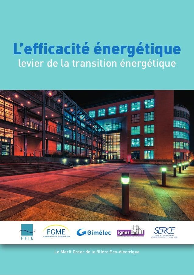 L'efficacité énergétiquelevier de la transition énergétiqueLe Merit Order de la filière Eco-électrique