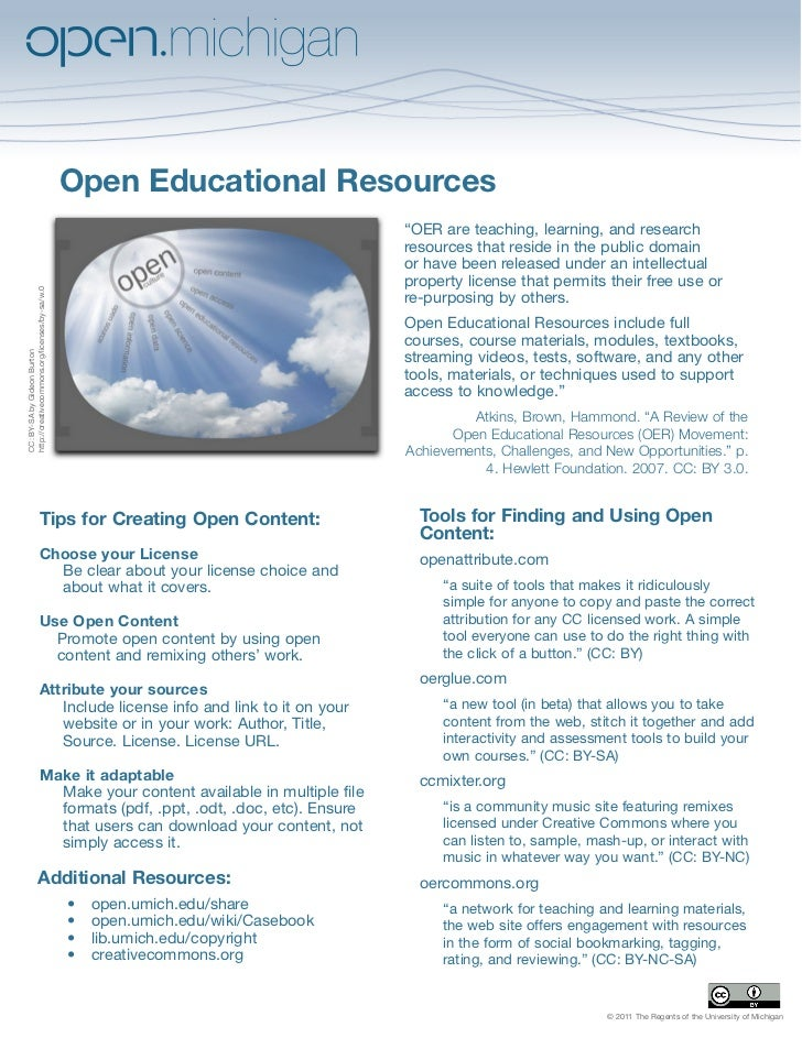 "Open Educational Resources                                                                                   ""OER are teac..."