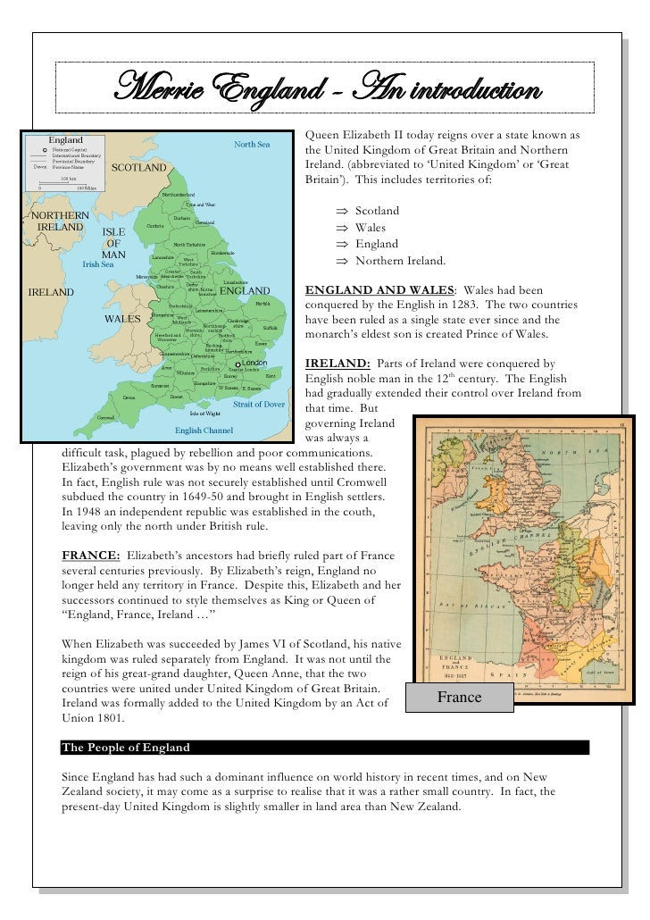 Merrie England - An introduction                                                  Queen Elizabeth II today reigns over a s...