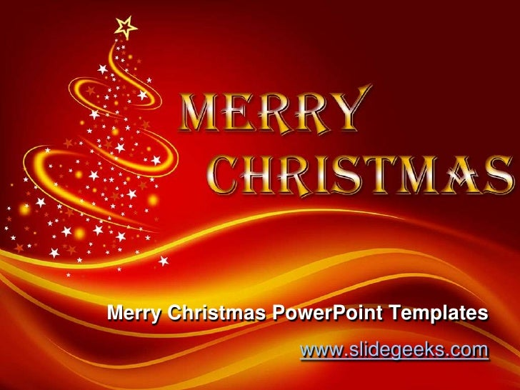 merry christmas power point templates